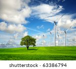 ecology   wind of change | Shutterstock . vector #63386794