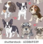 seamless pattern with a... | Shutterstock .eps vector #633869339