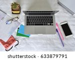 Small photo of Accountant verify the Saving Account Book and Statement of financial statements / Bookkeeping / Due date / Money / Accountancy Concept