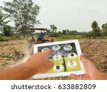 agricultural technology concept.... | Shutterstock . vector #633882809
