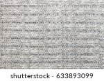horizontal gray knitting fabric ... | Shutterstock . vector #633893099