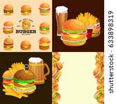 set of burger grilled beef and... | Shutterstock .eps vector #633898319