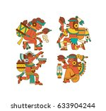 vector illustration aztec cacao ... | Shutterstock .eps vector #633904244