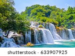 Waterfall Forest Landscape