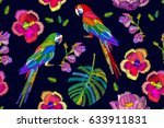 tropical forest. colorful print ... | Shutterstock .eps vector #633911831