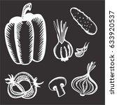 vegetables | Shutterstock .eps vector #633920537