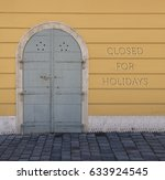 closed for holidays concept.... | Shutterstock . vector #633924545