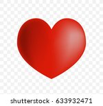 cute heart on white background. ... | Shutterstock .eps vector #633932471