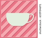 tea and coffe cup vector icon.... | Shutterstock .eps vector #633934691