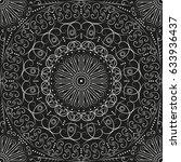 black and white ethnic... | Shutterstock .eps vector #633936437