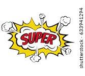 cartoon comic super bubbles...   Shutterstock .eps vector #633941294