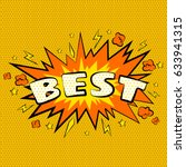 cartoon comic best bubbles... | Shutterstock .eps vector #633941315