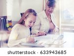 10 years old girl and her... | Shutterstock . vector #633943685