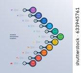 infographics timeline template... | Shutterstock .eps vector #633945761