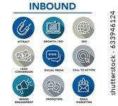 inbound marketing vector icons... | Shutterstock .eps vector #633946124