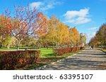 lawn in city square   Shutterstock . vector #63395107