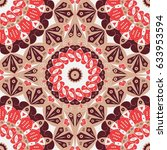 colorful ethnic patterned... | Shutterstock .eps vector #633953594