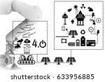 industry 4.0 concept of solar... | Shutterstock . vector #633956885