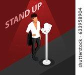 stand up isometric scene.... | Shutterstock .eps vector #633958904