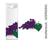 juice cartons  grapes  vector   Shutterstock .eps vector #633960341