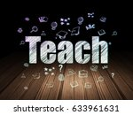 learning concept  glowing text... | Shutterstock . vector #633961631