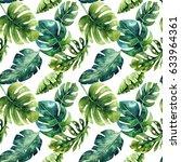 seamless watercolor pattern of... | Shutterstock . vector #633964361