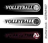vector sport logo featuring a...   Shutterstock .eps vector #633969407