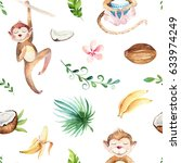 baby animals nursery isolated... | Shutterstock . vector #633974249
