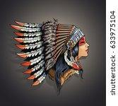 American Indian Girl In...