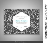 certificate of appreciation... | Shutterstock .eps vector #633978599