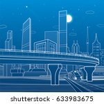 automobile highway ... | Shutterstock .eps vector #633983675