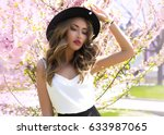 summer sunny outdoor portrait... | Shutterstock . vector #633987065
