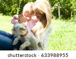 holiday in nature. mother and... | Shutterstock . vector #633988955