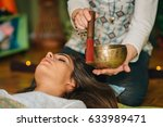 tibetan singing bowl | Shutterstock . vector #633989471