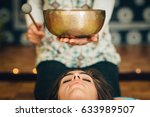 tibetan singing bowl | Shutterstock . vector #633989507