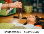 bali bell in sound therapy | Shutterstock . vector #633989609