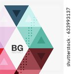 vector triangles abstract... | Shutterstock .eps vector #633993137