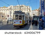 lisbon  portugal   january 11 ... | Shutterstock . vector #634006799