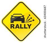 rally warning sign. vector... | Shutterstock .eps vector #63400687