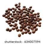 coffee beans with white...   Shutterstock . vector #634007594