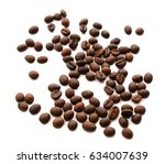 coffee beans. isolated on white ... | Shutterstock . vector #634007639