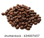 coffee bean isolated on white   Shutterstock . vector #634007657