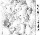 clouds undulatus asperatus... | Shutterstock .eps vector #634013321