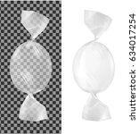 transparent foil food snack...   Shutterstock .eps vector #634017254