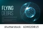abstract sphere shape. abstract ... | Shutterstock .eps vector #634020815
