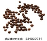 macro on a small pile of coffee ... | Shutterstock . vector #634030754