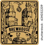brewery factory background. art ...   Shutterstock .eps vector #634032209