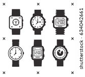 hand watch. time indication.... | Shutterstock .eps vector #634042661