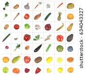 realistic 3d render of fruit... | Shutterstock . vector #634043327