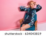 fashion photo of a beautiful... | Shutterstock . vector #634043819